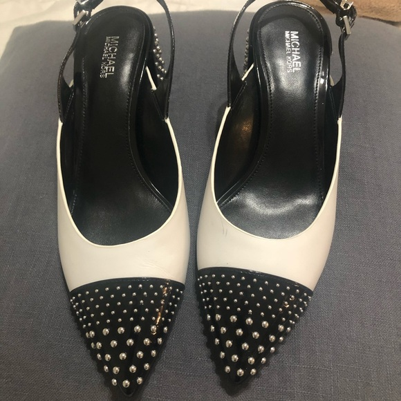 MICHAEL Michael Kors Shoes - MICHAEL Michael Kors Mila Cap toe studded heel 8M